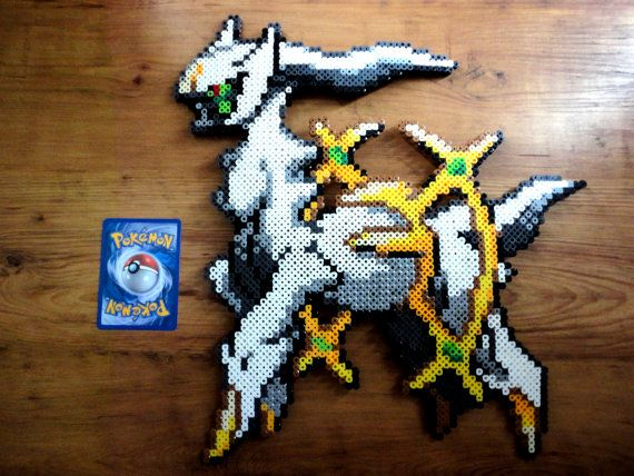 Arceus Pokemon Perler Bead Sprite