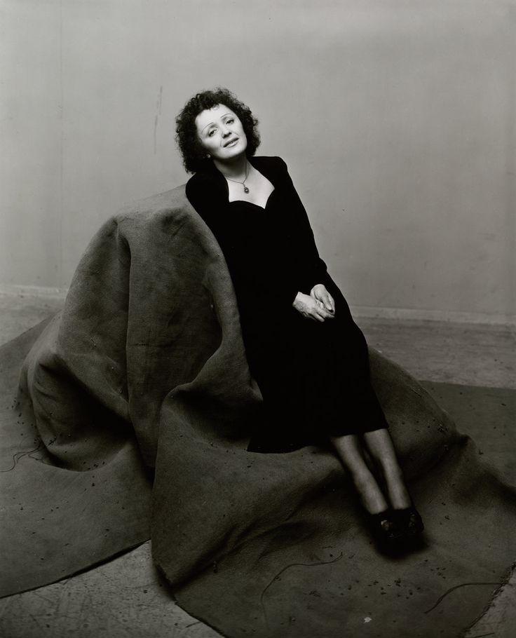 Édith Piaf (1 of 3) , New York, 1948 Gelatin silver print © The Irving Penn Foundation