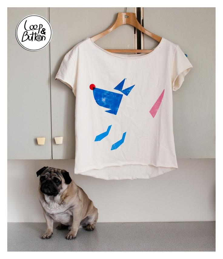 WaitingDog handmade t-shirt  size: S, M, L