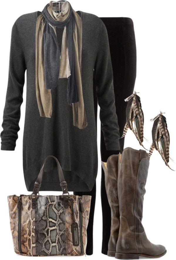 Polyvore For Women Over 50 Brown Grey Quot By Lagu On