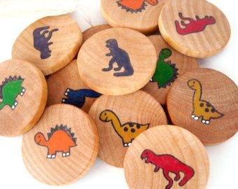 Educational Wooden Memory Game - Dinosaurs