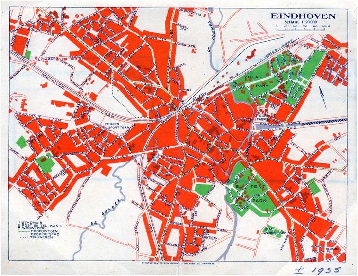 Plattegrond van de gemeente Eindhoven. - 1932-1938