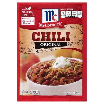 McCormick® Chili Seasoning Mix Original 1.25oz : Target