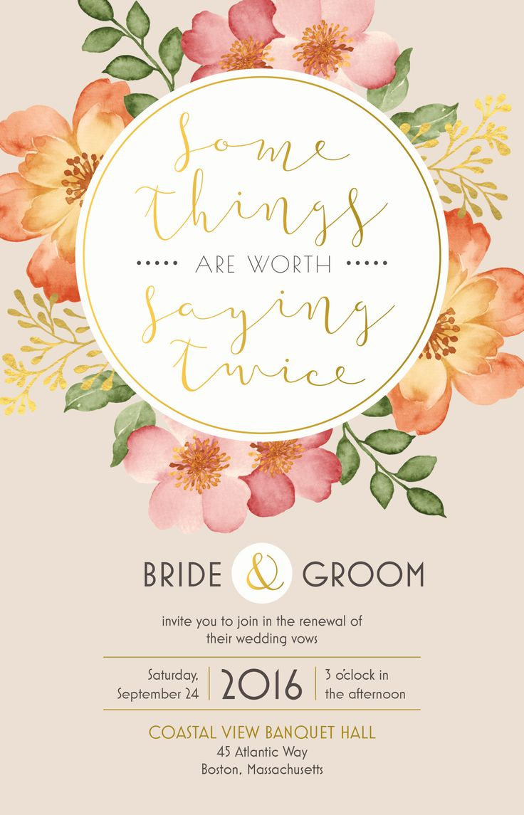 Wedding Renewal Invitation | Vistaprint
