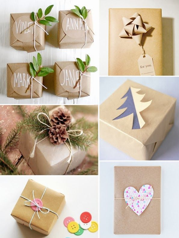 Kraft paper Christmas wrapping inspiration