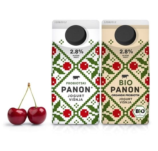 Peter Gregson Studio for PANON and BIOPANON Yogurt and Kefir Brands   34 Coolest Food Packaging Designs Of 2012