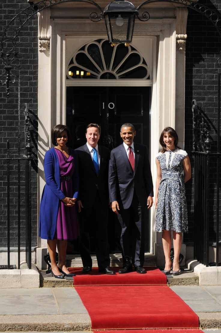 Image detail for -LONDON, ENGLAND - MAY 24: US President, Barack Obama, (2R) and his wife Michelle Obama (L) are greeted by British Prime Minister David Cameron and wife...