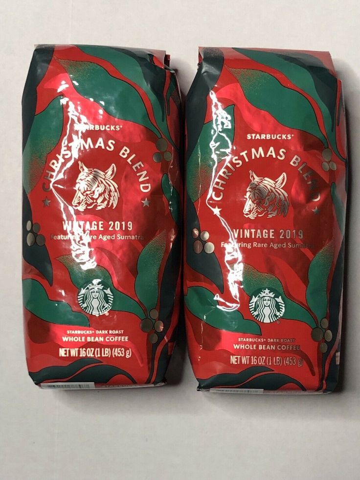Two (2) 1 Lb Bags of Starbucks 2019 Christmas Blend Whole