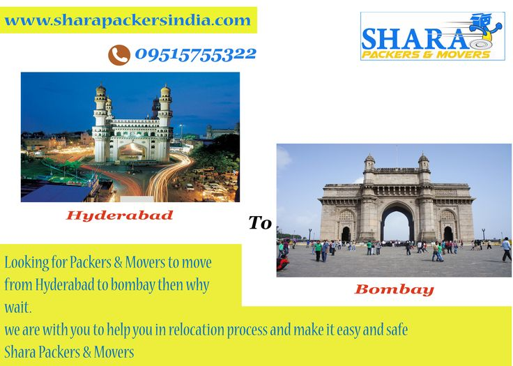 ‪#‎moveing‬ from ‪#‎hyderabad‬ to ‪#‎bombay‬ we are with you in relocation help to make relocation stress free, lets move your goods safely with Shara Packers & Movers  www.sharapackersindia.com Contact Us : 09515755322, 09515755377
