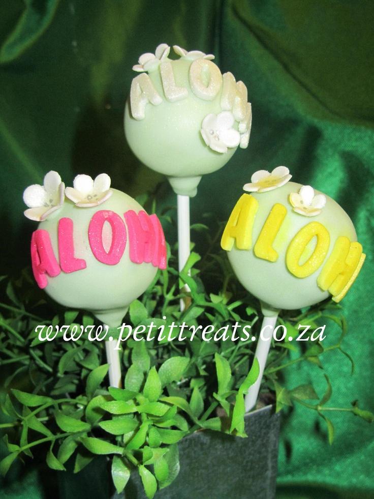 Hawaiian Themed Cake Pops - Aloha