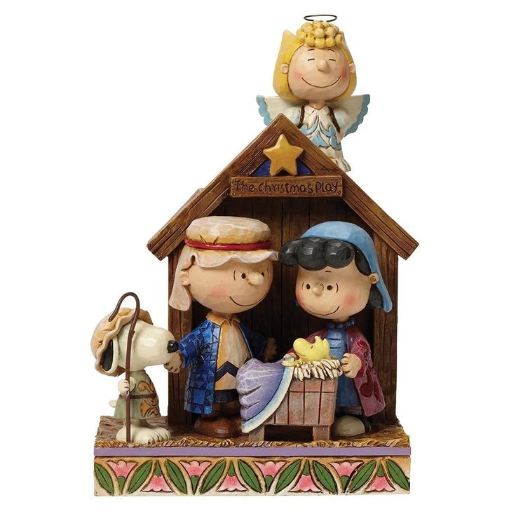Jim Shore Peanuts Snoopy Christmas Figurine The Christmas Play Nativity Ornament…