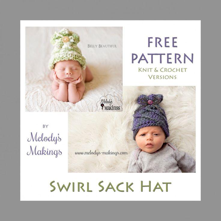 Swirl Sack Hat – Free Pattern | Pinterest
