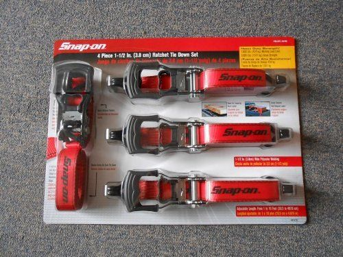 Snap-On 4 Piece 1-1/2 In. (3.8 cm) Ratchet Tie Down Set NEW by Snap-on. $34.95