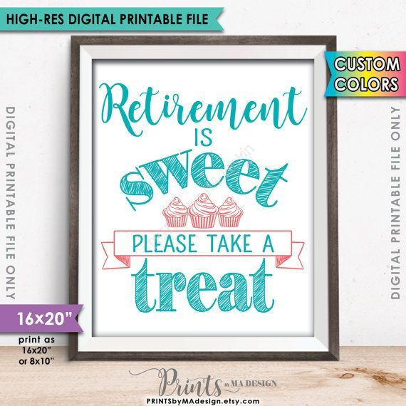 Retirement Sign Retirement is Sweet Please by PRINTSbyMAdesign