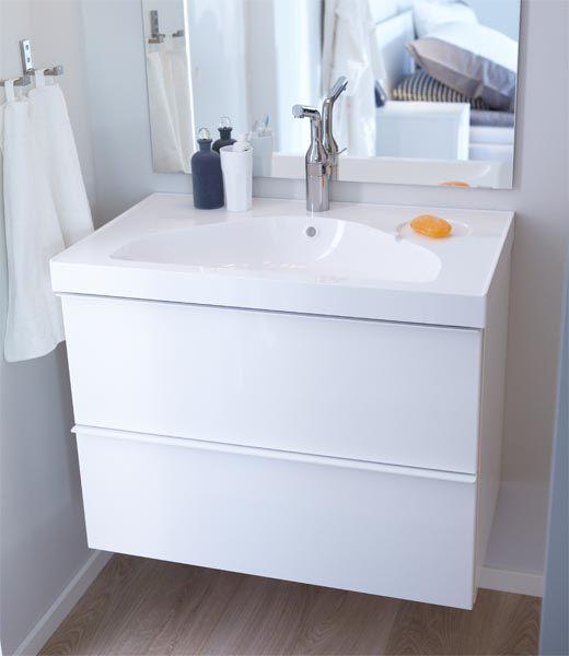 GODMORGEN badkamerkast met ODENSVIK wastafel - #IKEAcatalogus