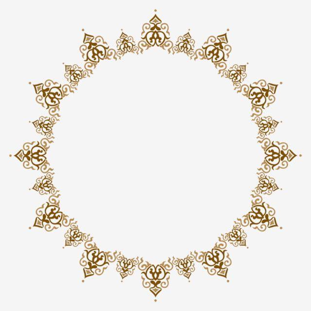 Golden Round Frame Frame Golden Frame Border Frame Png Transparent Clipart Image And Psd File For Free Download Frames Design Graphic Circle Frames Gold Frame
