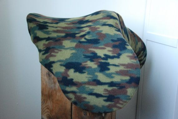 Equine Saddle Cover LAST ONE in camo fleece by TheStitchingHorse