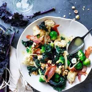 I Quit Sugar - Winter Vegetable Sauté with Prosciutto and Hazelnuts