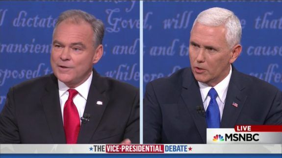 BOOM! Gov. Pence to Sen. Kaine at VP Debate: We'll work with you when you go back to the Senate (VIDEO)