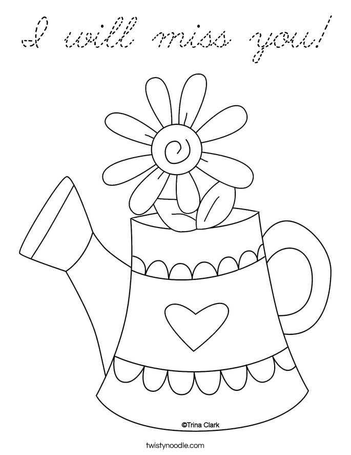 missing you coloring pages - photo#12