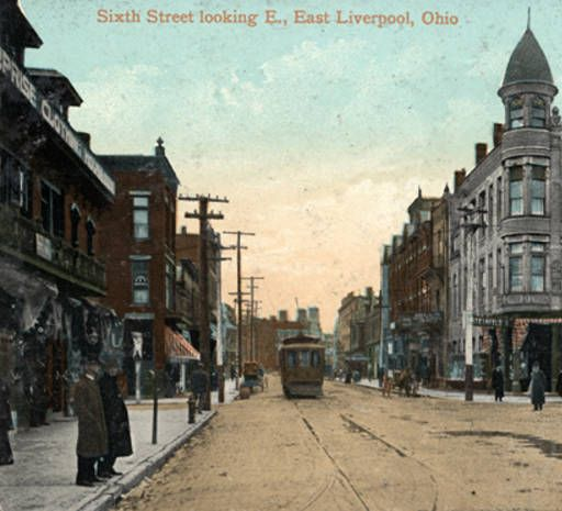 Sixth Street looking east, East Liverpool, Ohio :: General