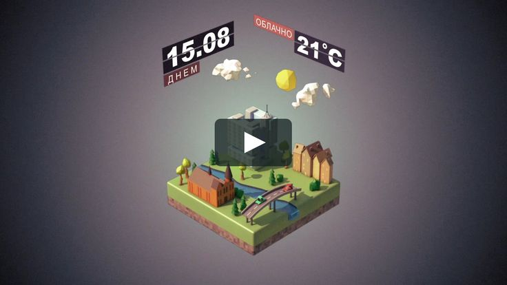 Example of animation for Weather forecast