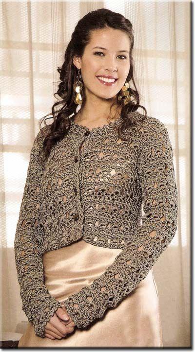 17 Best images about Crochet boleros on Pinterest | Crochet vests ...