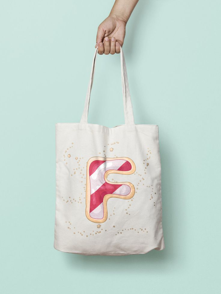 Eco-friendly canvas monogram tote bag. Personalize your market tote by choosing your letter. We will printed it just for you! Please write which letter you'd like on 'note to seller' section.