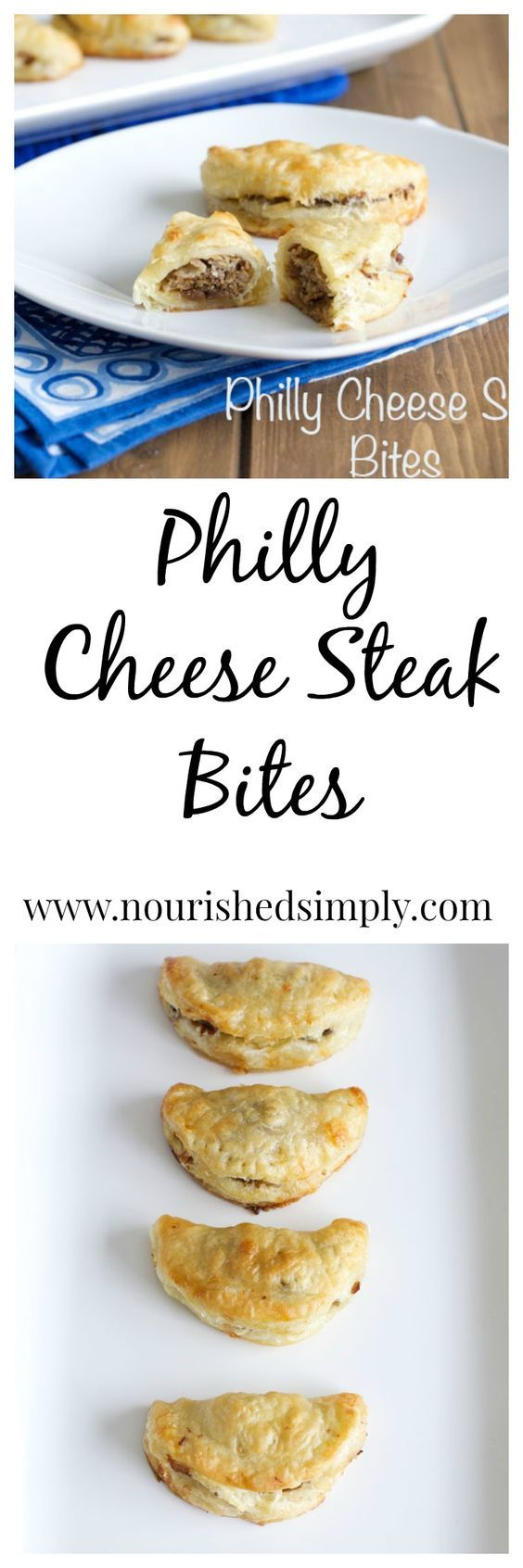Philly Cheese Steak Bites - enjoy the deliciousness of the classic Philadelphia Cheese Steak in a lower calorie bite size treat.