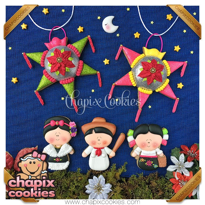 Las Posadas Mexicanas, Mexican Christmas stars by Chapix Cookies