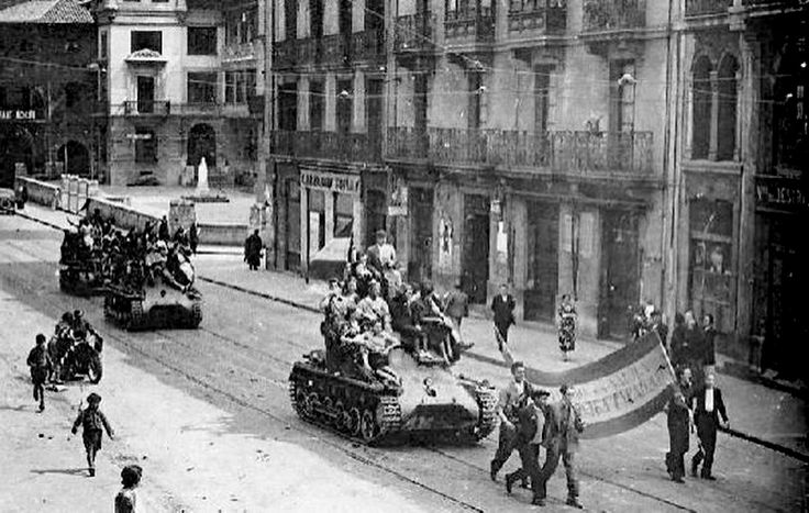 Entrada de los franquistas en Bilbao, 19 de junio de 1937