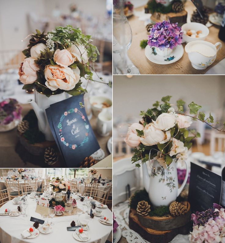 Decor for a Rustic, DIY 'Natural Retreats' Wedding in North Yorkshire. Images by Mark Tattersall