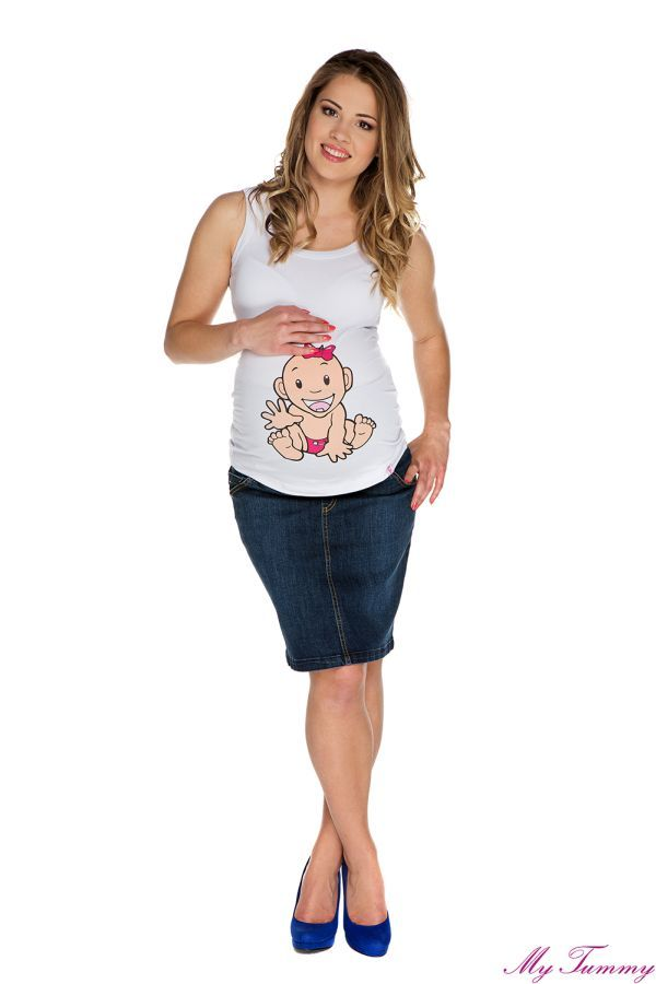 Spódnica ciążowa Nicole granatowa