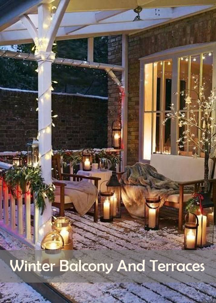 Winter balcony and terraces