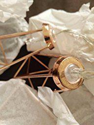 Rosé Gold Metall Laternen Lichterkette, batteriebetrieben, 10 LEDs warmweiß, von Festive Lights: Amazon.de: Küche & Haushalt