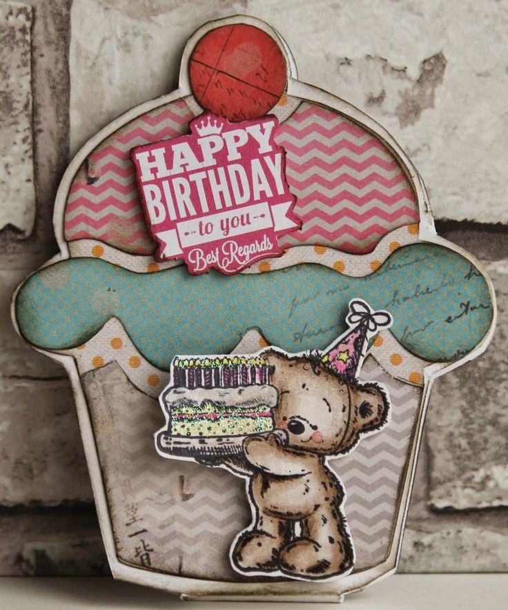 Madeliefjuh: cupcake kaart
