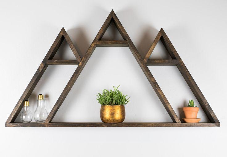 Wasatch Mountain Geometric Shelf by LocalRaine on Etsy https://www.etsy.com/listing/289228947/wasatch-mountain-geometric-shelf