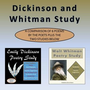 an analysis of the poetry of walt whitman and emily dickinson The poetry of emily dickinson, as it is central in about one quarter of her oeuvre   before getting into the analysis of the poems we will explain the bases of the  func-  8 walt whitman, «song of myself,» leaves of grass (new york: norton, .