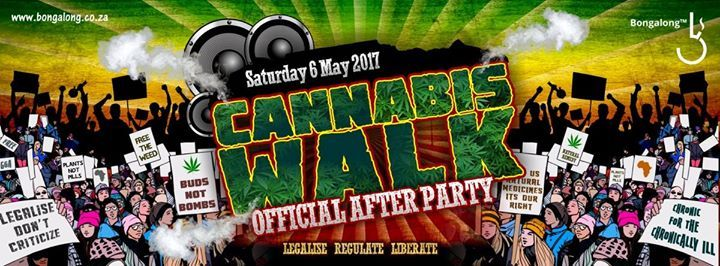 Welcome all fellow cannabis activists, to the official Bongalong™ Cannabis Walk After Party! We are super excited to be teaming up with Bongalong™ to bring our protesters and activists together to enjoy the euphoria of epic music and social interjection.  The movement has started to make waves in our little corner of the world. Things are starting to move forward, and soon we'll be snowballing our way into a new South Africa.  ~~~~~~~~~~~~~~~~~~~~~~~~~~~~~~~~~~~~~~~~  This after party will…