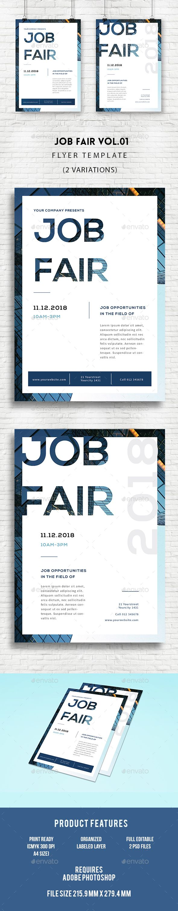Job Fair Flyer Template PSD. Download here: http://graphicriver.net/item/job-fair-flyer/16847034?ref=ksioks
