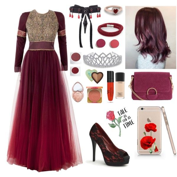 Middle Ages Princess by lucyheartyui on Polyvore featuring moda, Pinup Couture, Valentino, Swarovski, Bling Jewelry, Too Faced Cosmetics, MAC Cosmetics, Disney and Lime Crime