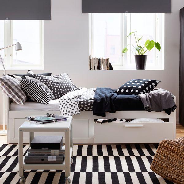 9 best camas com arruma o ikea portugal images on for Cama brimnes