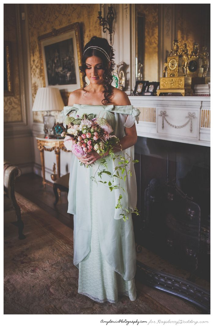 Jessica Charleston wedding dress STYLED SHOOT: JANE AUSTEN INSPIRED WEDDING | Raspberry Wedding