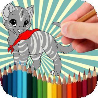 Målarbok Cat - inget betyg, från Vi i villa - färg- & målaverktyg #spel #skapa