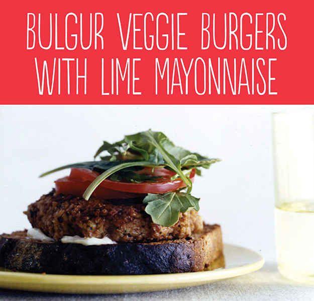 Bulgur Veggie Burgers with Lime Mayonnaise