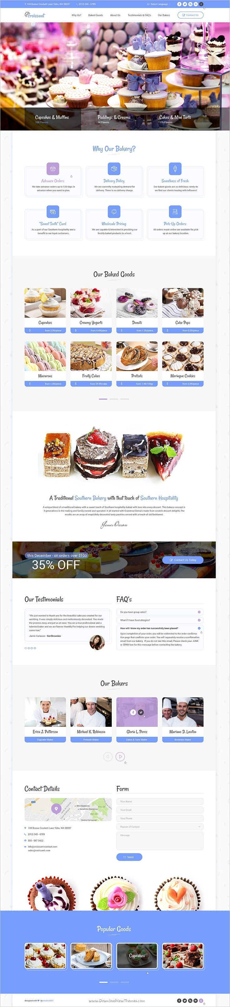 Croissant is a creative, unique, rich and modern #PSD template especially designed for #webdesign #bakery shop, Pastries and Bakeries websites download now➩ https://themeforest.net/item/croissant-creative-bakery-and-pastry-business-one-page-psd-template/19085655?ref=Datasata
