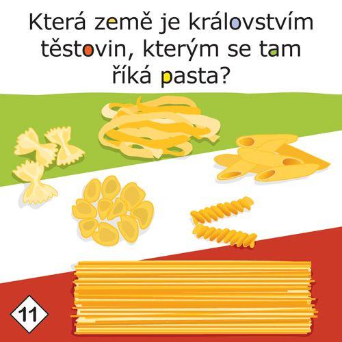 Která země je královstvím těstovin, kterým se tam říká pasta?