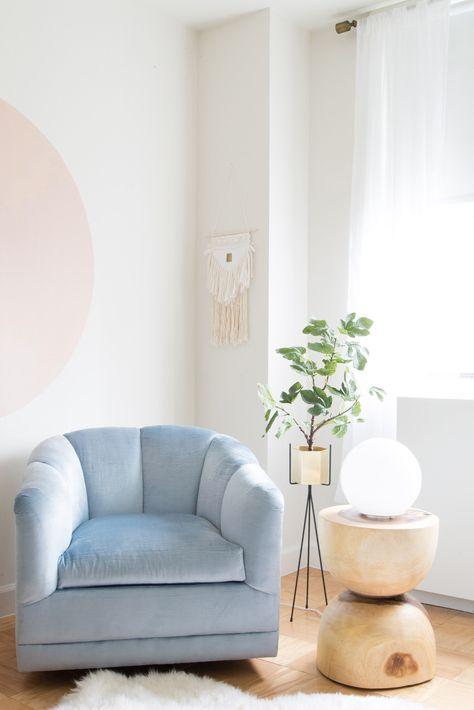 Powder blue chair
