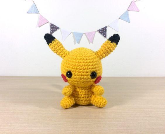 patron ,modèle en français du petit amigurumi pikachu (pikatchu) tout mignon…