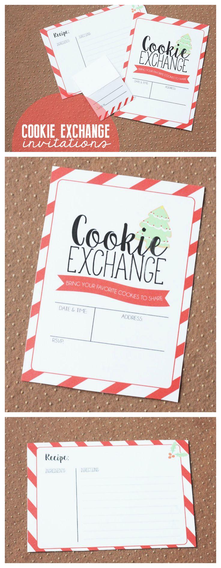 Cookie Exchange Invitation | Cookie Exchange Party Ideas